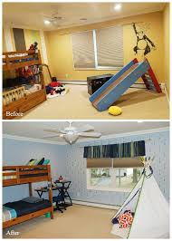 before and after an arrow stenciled boys bedroom hometalk
