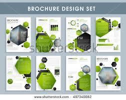professional brochure design templates professional brochure design set creative template stock vector