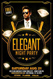 free elegant party flyer template business cards pinterest