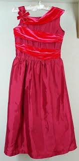 american rosy red holiday dress sz 14 child tea length
