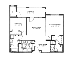 Bedroom Floorplan by Floor Plans Atlantic Shores Retirement Community