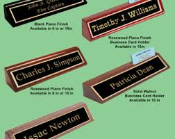 Custom Desk Name Plates by Executive Name Plate Etsy