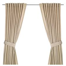 Ikea Beige Curtains Ingert Curtains With Tie Backs 1 Pair Ikea