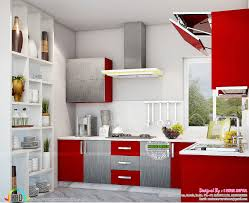 Decor Lacquared Kitches And Cabinets And Full Wall Shelves With