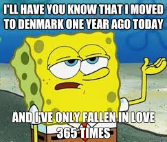 Denmark Meme - i ll have you know that i moved to denmark one year ago today and i
