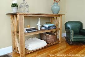 Diy Console Table Plans Tutorial Rustic X Base Console Table The Chronicles Of Home