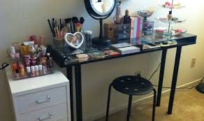 Lighted Desk Table Glorious Makeup Vanity Table With Lighted Mirror Ikea