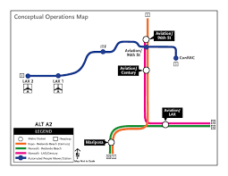 Los Angeles Airports Map by Metro Staff Recommends New Light Rail Station At Aviation 96th