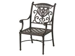 hanamint grand tuscany outdoor aluminum dining chair with scroll