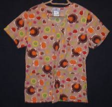 thanksgiving scrub tops ebay