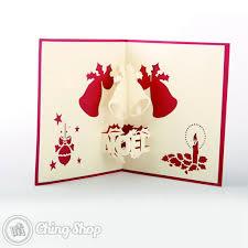 noël u0026 christmas bells 3d pop up card 3 95 3d pop up
