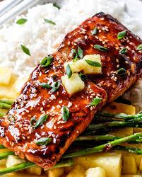 cuisiner un filet de saumon filets de saumon à la sauce bbq thaïlandaise 14 cuisine poissons