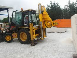 cat 432d backhoe becomes massive remote control chainsaw with