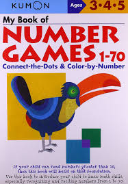 amazon com my book of number games 1 70 kumon workbooks