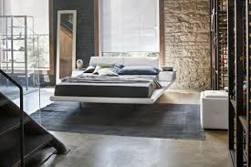 floating bed floating bed double contemporary upholstered elba target