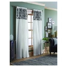 Cream Embroidered Curtains Scroll Embroidery Curtain Panel Threshold Target
