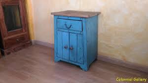 mueble colonial reciclado pintado mesita auxiliar bicolor jpg