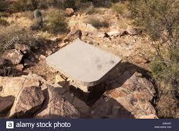 concrete table and stone benches ez kim in zin picnic area saguaro
