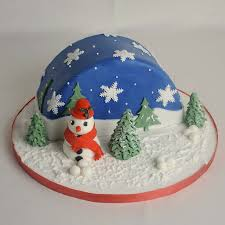decorating christmas cake idea with fondant christmas cake cake