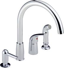 one handle kitchen faucets peerless p88900lf waterfall single handle widespread kitchen