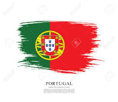 Portugal Football Flag Flag Of Portugal Brush Stroke Background Royalty Free Cliparts