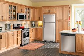White Kitchen Cabinets With Tile Floor Ideas U0026 Tips Cool Refrigerator Form Ge Slate Appliances With
