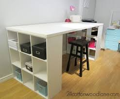 build a craft table diy craft room table craft room desk cube shelving unit and large
