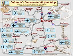 colorado commercial airports map co vacation directory