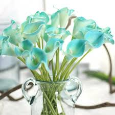 fake flowers for home decor 6 pieces lot european style fake calla lily flowers bridal wedding