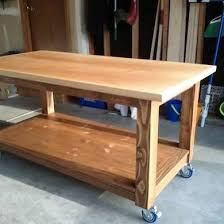 add castors to a workbench to make a mobile workstation tools