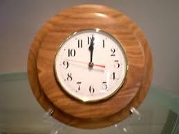 wood turned wall tallowwood wood turned wall clock ebay