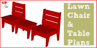 Outdoor Furniture Plans Pdf by Easy Diy Lawn Chair U0026 Table Construct101