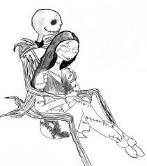 nightmare before and sally coloring pages quotes