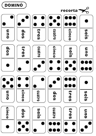practice numbers in spanish by playing this free printable domino
