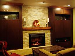 decorations wall mounted indoor fireplaces your daily decorations elegant home theater ideas wit stone wall theme and