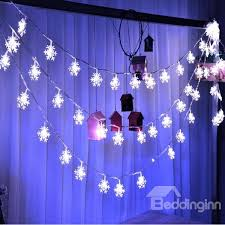 battery led string lights white christmas indoor and outdoor decoration 32 8ft snowflake shape