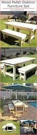 Patio Table Made From Pallets by 25 Unique Pallet Outdoor Furniture Ideas On Pinterest Diy