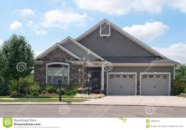 garage houses small house with two car garage royalty free stock images image