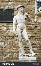 statue replica david by michelangelo di stock photo 105611024