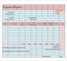 expense report templates 8 download free documents in word