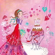 girl birthday birthday girl painting by caroline bonne muller
