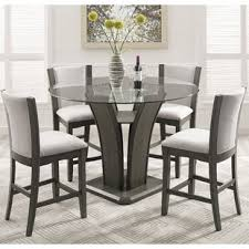 high dining room table and chairs counter height dining sets you ll love wayfair