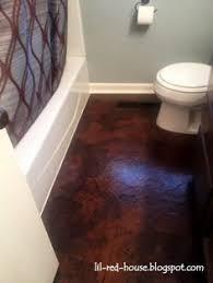 diy bathroom flooring ideas 10 diy great ways to upgrade bathroom 8 copper pennies