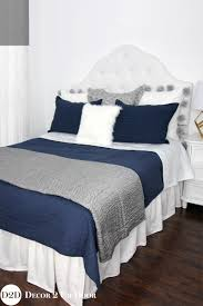 Navy And Grey Bedroom by Navy Grey U0026 White Custom Designer Bedding Collection
