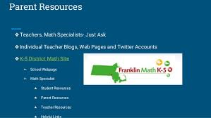 k 12 math program update for franklin ma committee