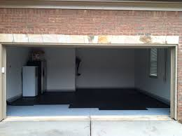 step 1 1 inch rubber mats to floor 400 square foot 2 car garage w