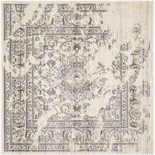 7x7 Area Rugs Safavieh Adirondack Ivory Silver 8 Ft X 8 Ft Square Area Rug
