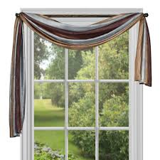 Ombre Window Curtains Achim Semi Opaque Ombre 144 In L Polyester Scarf In Chocolate