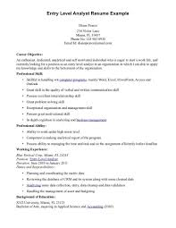 Samples Of Resumes Objectives by Redoubtable Entry Level Resume Objective 4 Samples For Entry Level