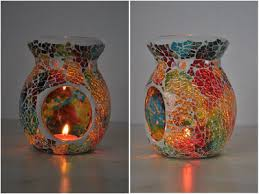 Tea Light Oil Warmer Aliexpress Com Buy Mosaic Candle Aromatherapy Furnance Candle